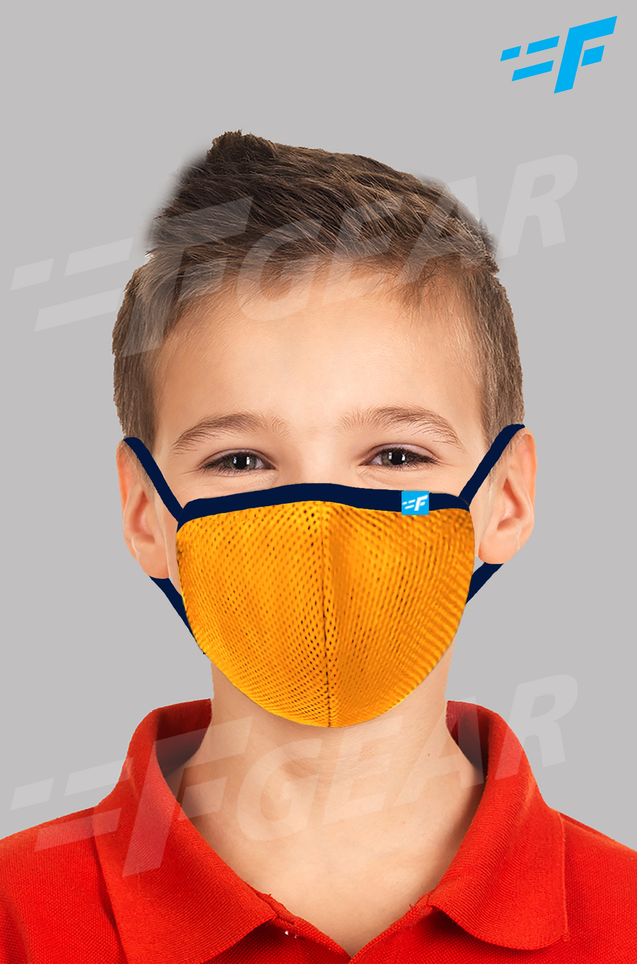 7layer F95 CE ISO SITRA Lab tested >95% BFE reusable washable Safeguard mask Yellow color Pack of 1