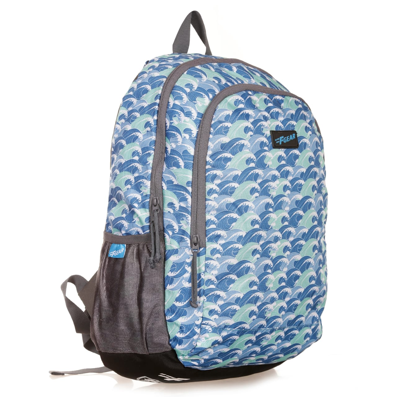 F Gear Castle Waves Blue  22 L Polyester Backpack (3336)