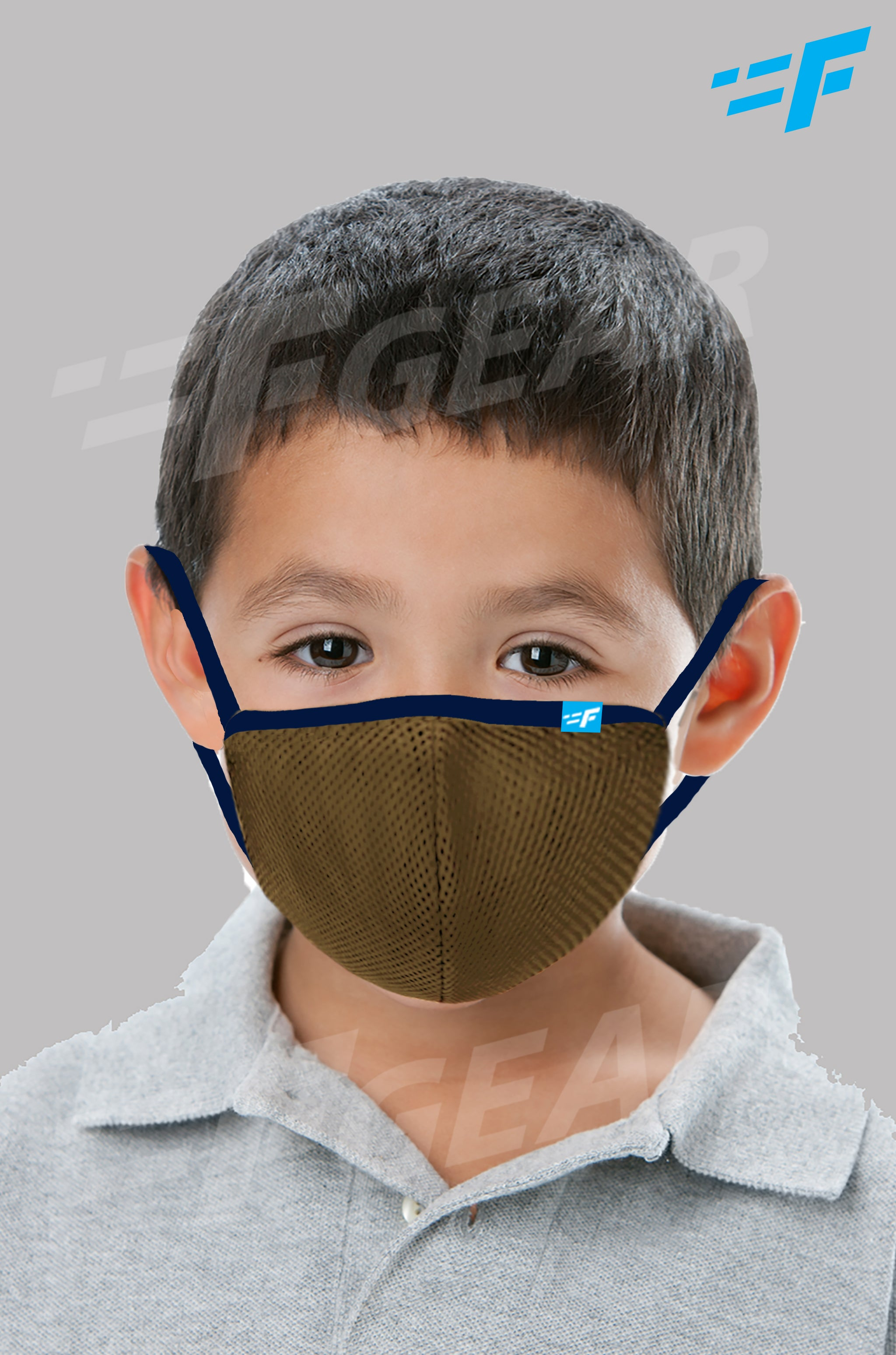 7layer F95 CE ISO SITRA Lab tested >95% BFE reusable washable Safeguard mask Khaki color Pack of 1