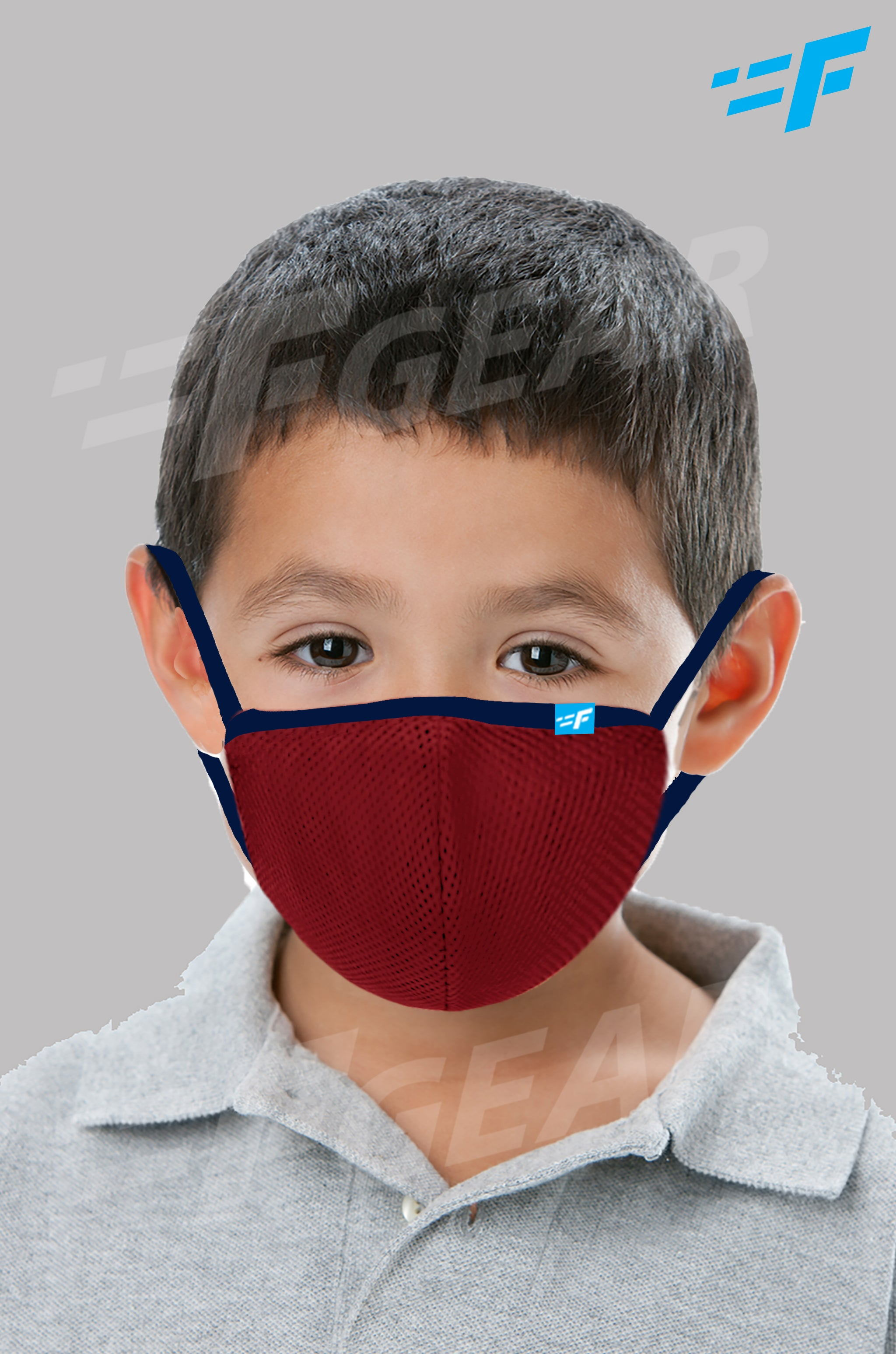 7layer F95 CE ISO SITRA Lab tested >95% BFE reusable washable Safeguard mask Red color Pack of 1