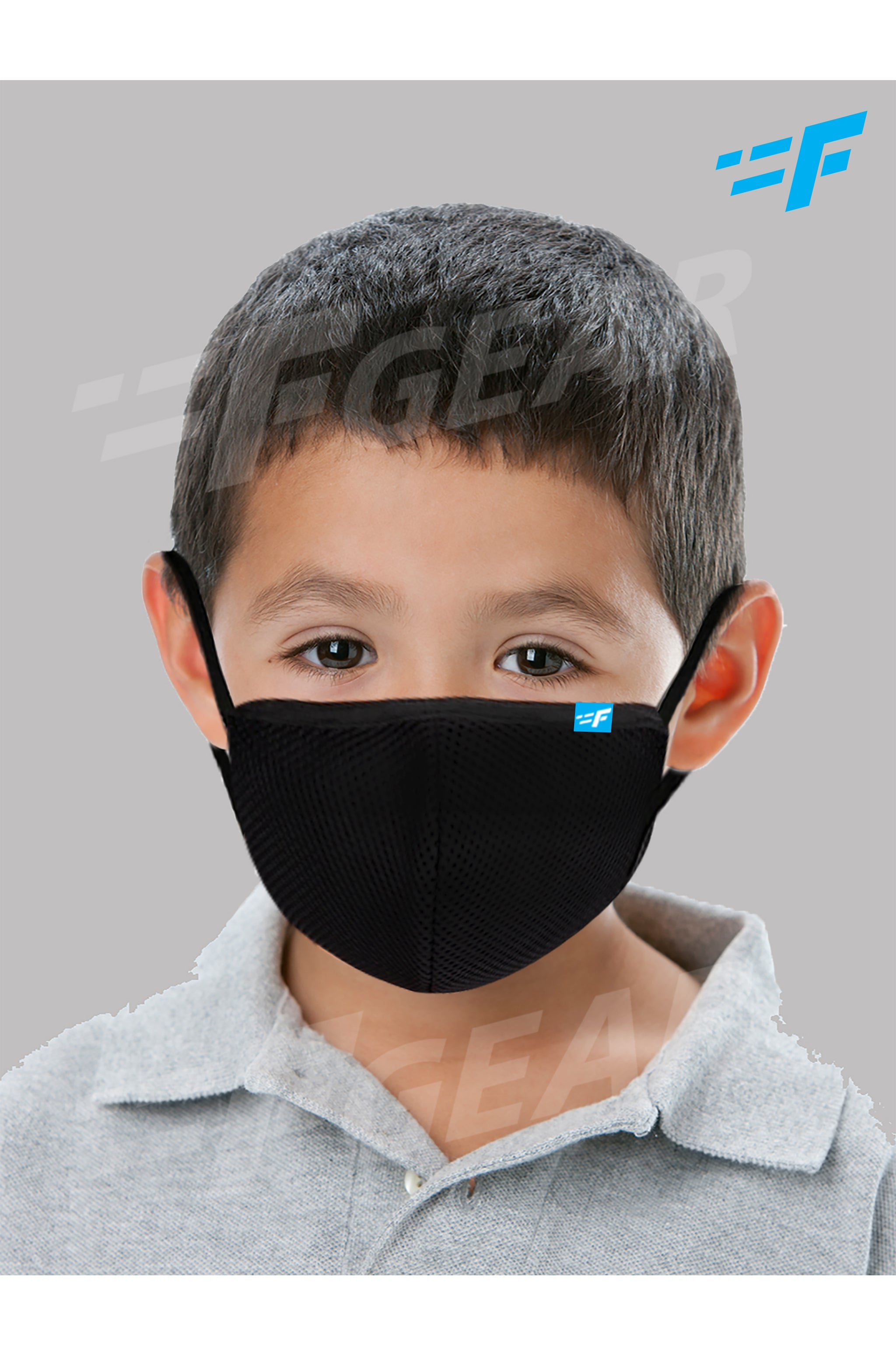 7layer F95 CE ISO SITRA Lab tested >95% BFE reusable washable Safeguard mask Black color Pack of 1
