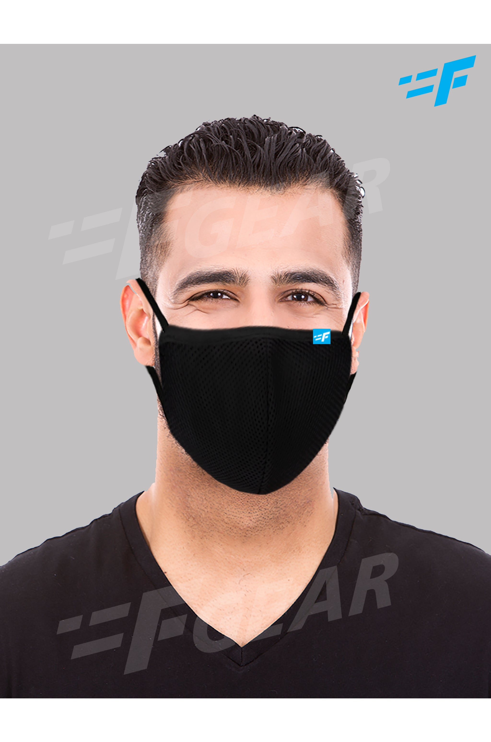 F95  Black Reusable Washable  F Gear Mask Pack-3