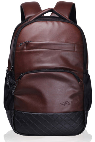 F Gear Luxur 23 Ltrs Brown Laptop Backpack (2404)