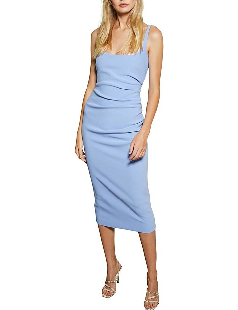 Karina Tuck Midi Dress - Cornflower