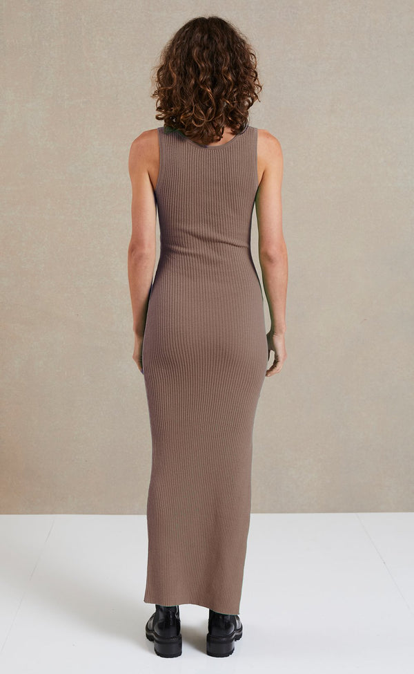 Riviera Midi Dress - Silt