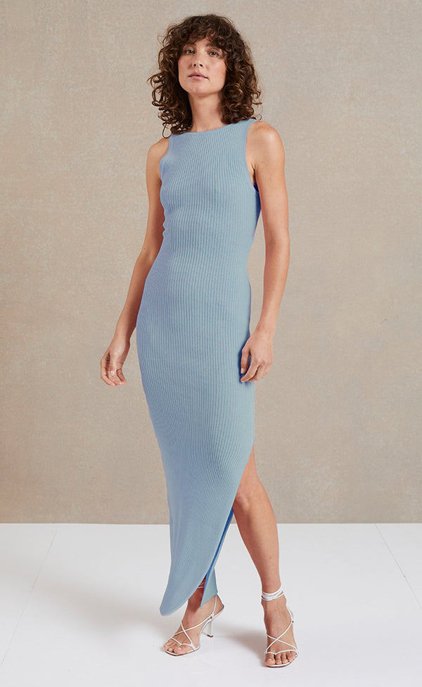Riviera Midi Dress - Sky Blue