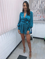 Wrap Playsuit- Teal