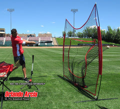 PowerNet DLX 2. 0 Baseball Softball Hitting Net System w/ 3 Progressive Weighted Balls