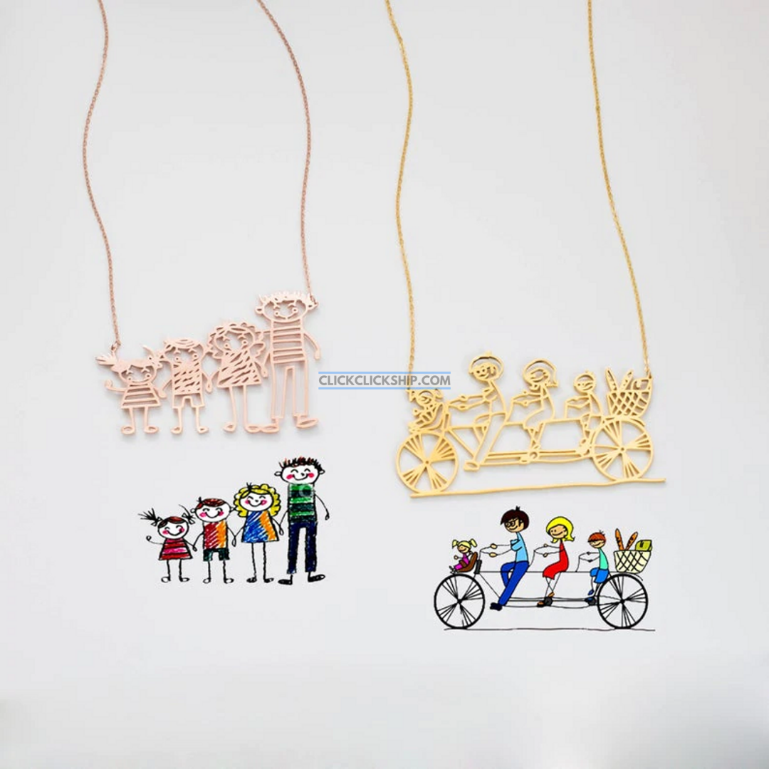 Customized Drawing Necklace/Keychain