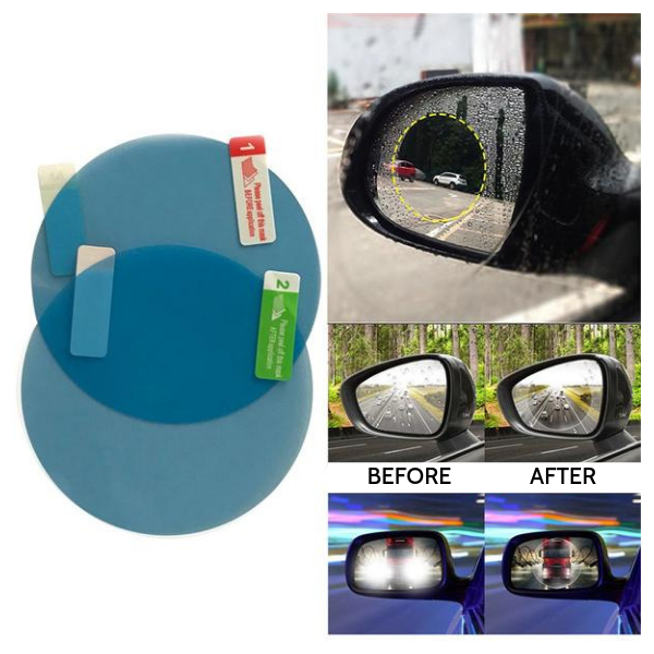 Waterproof Side View Mirror Film 8cm (Round) x 2 pcs ClickClickShip.com