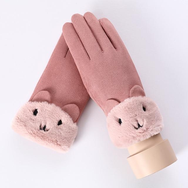 Women's Gloves For Touch Screen A Pink ClickClickShip.com