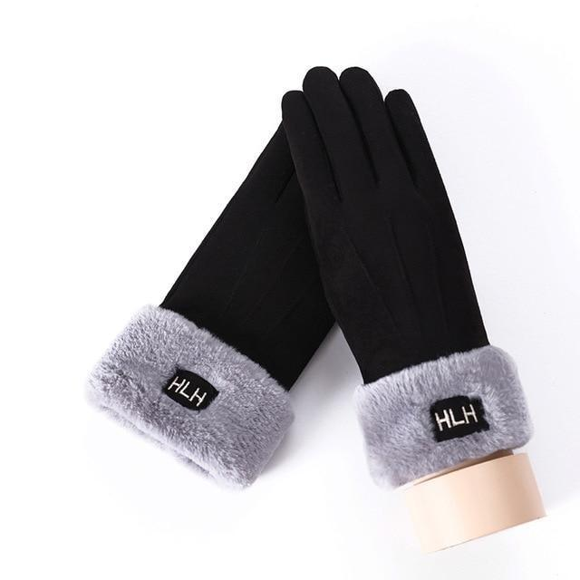 Women's Gloves For Touch Screen B Black ClickClickShip.com