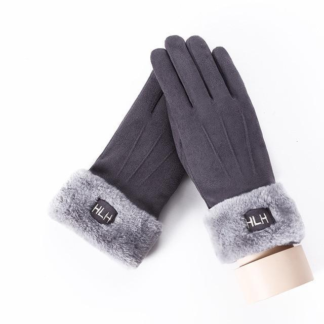 Women's Gloves For Touch Screen B Gray ClickClickShip.com