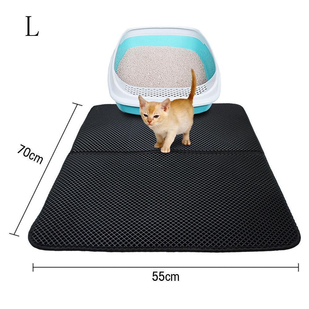 Double-Layer Cat Litter Mat Black / 40 x 50cm ClickClickShip.com