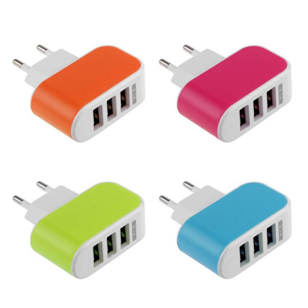 Multi USB Wall Charging Adapter US/EU