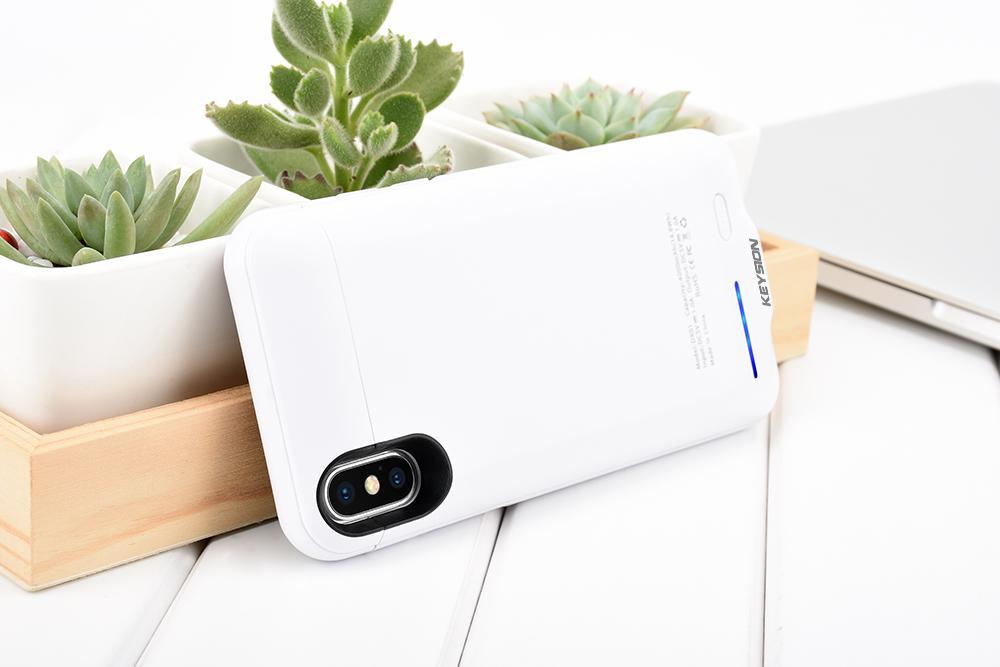 iPhone X Portable Charging Case With Stand Black ClickClickShip.com