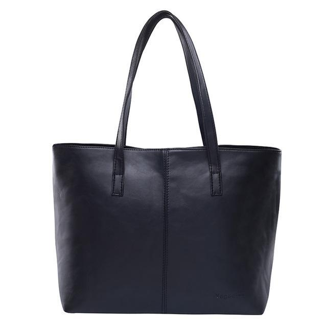 Luxury Tote Shoulder Handbag Black ClickClickShip.com