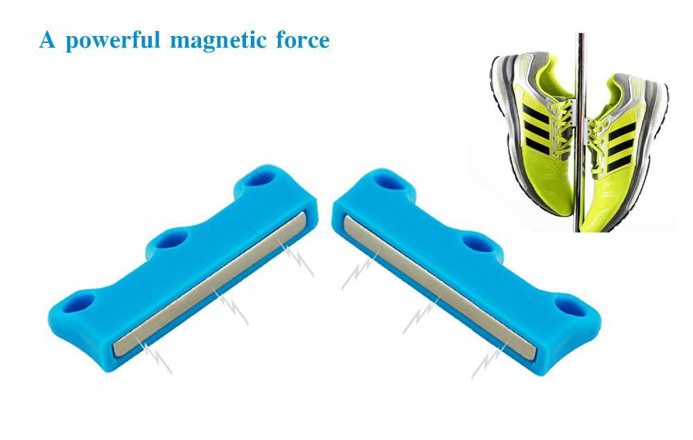 Magnetic Shoelace Buckles Black ClickClickShip.com