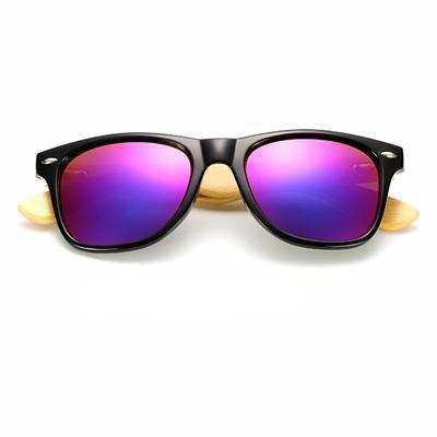Unisex Wooden Sunglasses Black purple mercury ClickClickShip.com
