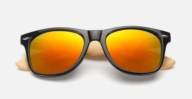 Unisex Wooden Sunglasses Black red mercury ClickClickShip.com