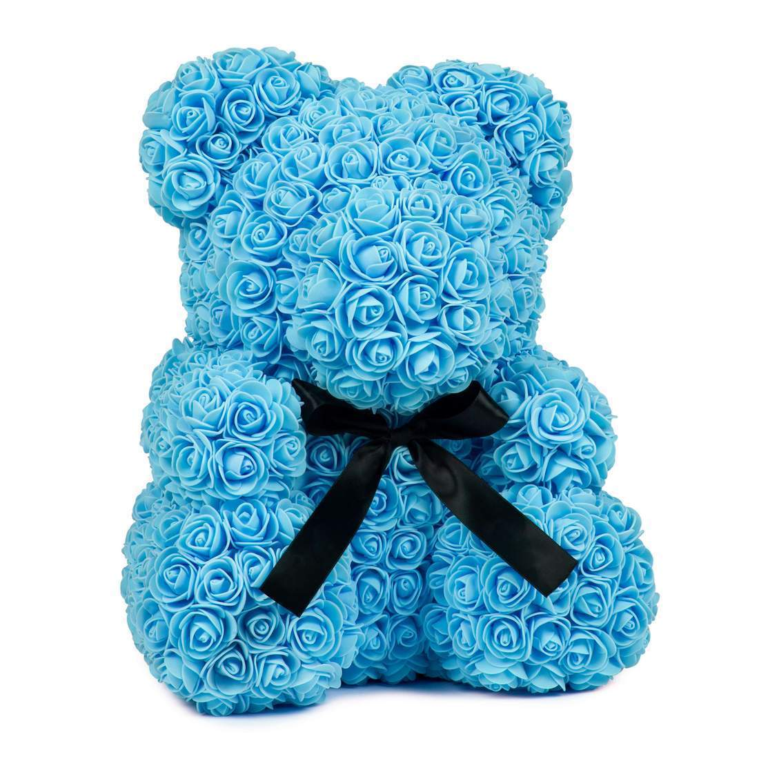 Rose Teddy Bear Blue Large (40cm x 30cm) ClickClickShip.com