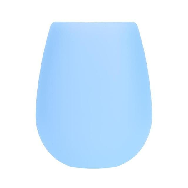 Unbreakable Silicone Cup Blue ClickClickShip.com