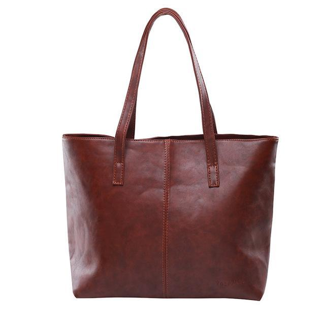 Luxury Tote Shoulder Handbag Brown ClickClickShip.com