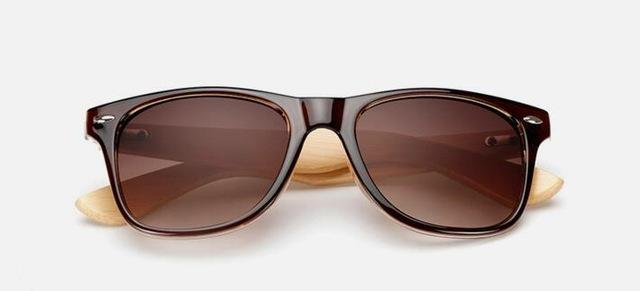 Unisex Wooden Sunglasses Brown ClickClickShip.com