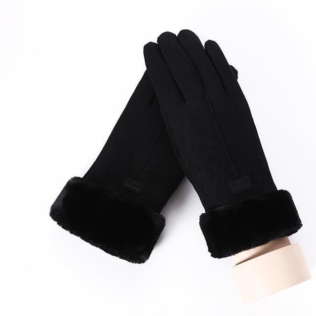 Women's Gloves For Touch Screen C Black ClickClickShip.com
