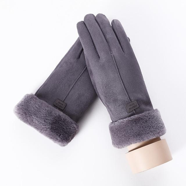 Women's Gloves For Touch Screen C Gray ClickClickShip.com