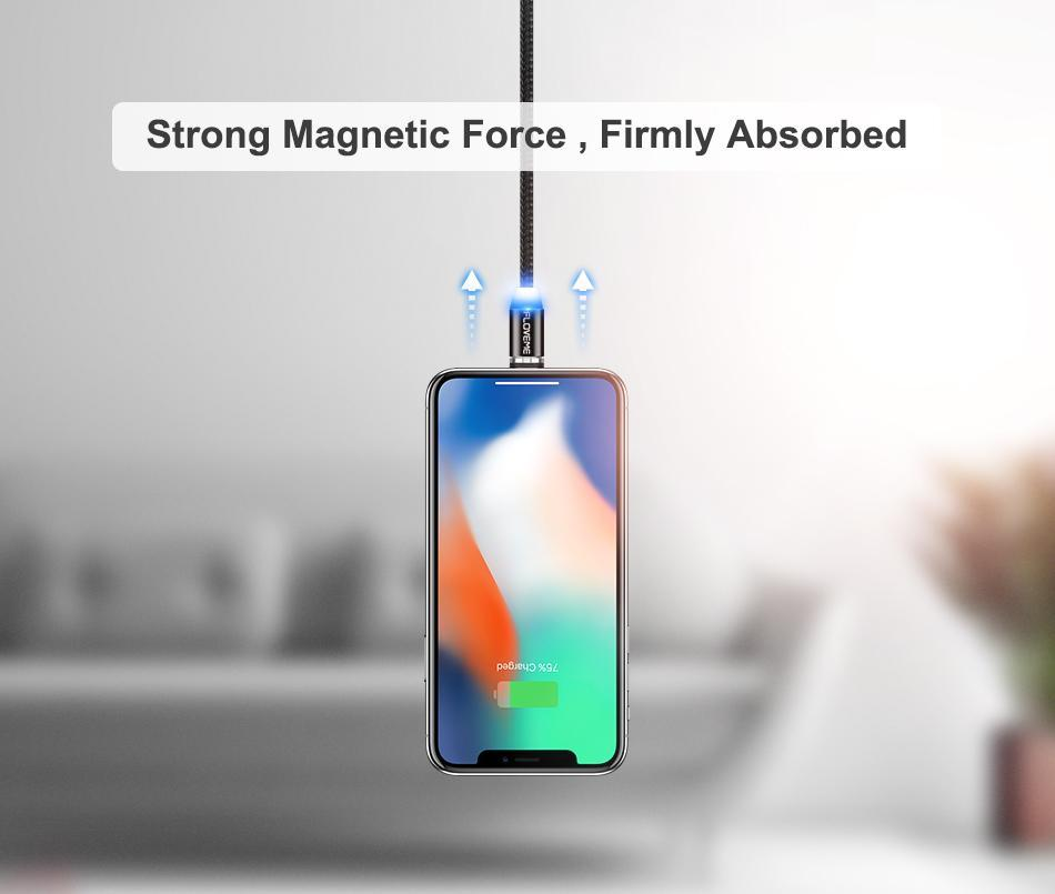 LED Magnetic Fast Charging Cable China / Only Cable / 1m ClickClickShip.com
