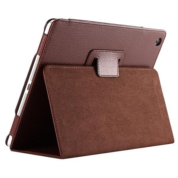 "iPad 2/ 3/ 4/ PU Leather Cover Smart Stand Holder Folio Case for 9.7""inch Screen Dark Brown ClickClickShip.com"