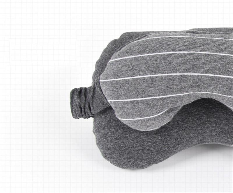 2 in 1 Travel Mask & Pillow Dark Grey ClickClickShip.com