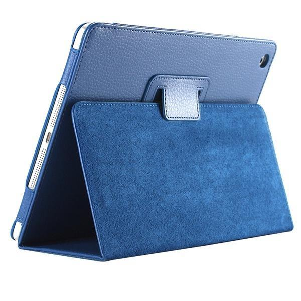 "iPad 2/ 3/ 4/ PU Leather Cover Smart Stand Holder Folio Case for 9.7""inch Screen Deep Blue ClickClickShip.com"