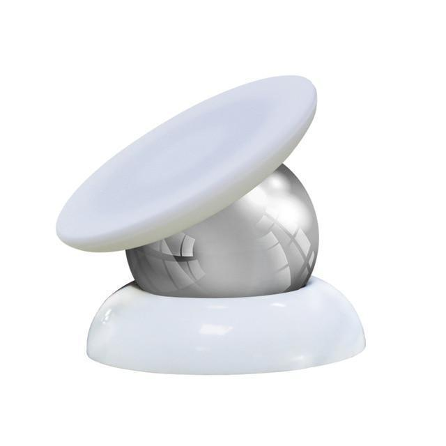 360 Degree Magnetic Phone Holder Full White Top With White Base ClickClickShip.com