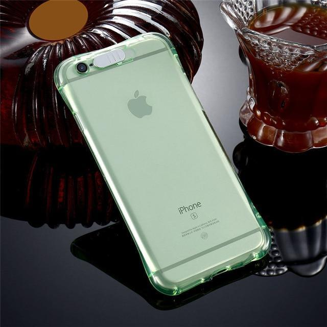 iPhone LED Flash Case Green / For iPhone 5 5S SE ClickClickShip.com