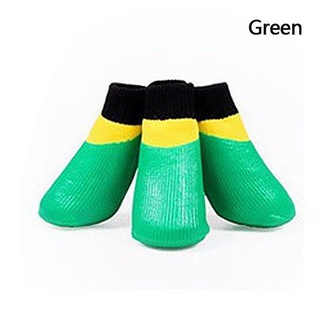 Dog Water Proof Socks Green / S ClickClickShip.com