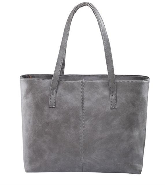 Luxury Tote Shoulder Handbag Grey ClickClickShip.com