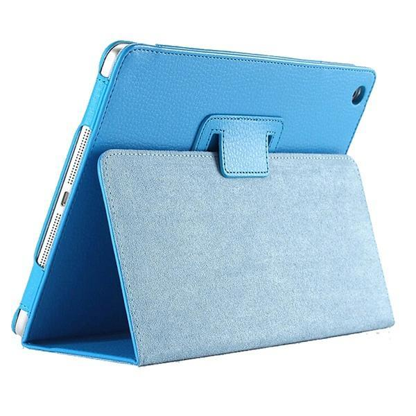 "iPad 2/ 3/ 4/ PU Leather Cover Smart Stand Holder Folio Case for 9.7""inch Screen Light Blue ClickClickShip.com"