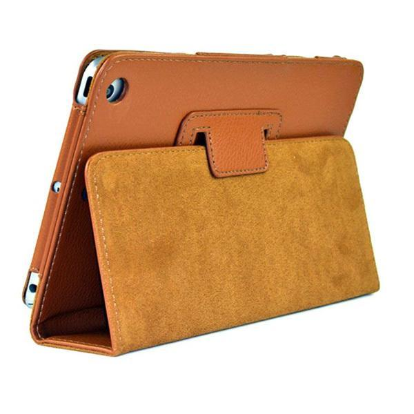 "iPad 2/ 3/ 4/ PU Leather Cover Smart Stand Holder Folio Case for 9.7""inch Screen Light Brown ClickClickShip.com"
