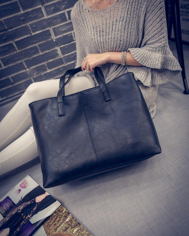 Luxury Tote Shoulder Handbag Light Brown ClickClickShip.com