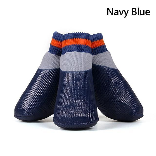 Dog Water Proof Socks Navy Blue / S ClickClickShip.com