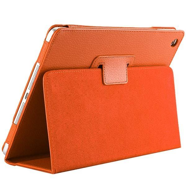 "iPad 2/ 3/ 4/ PU Leather Cover Smart Stand Holder Folio Case for 9.7""inch Screen Orange ClickClickShip.com"