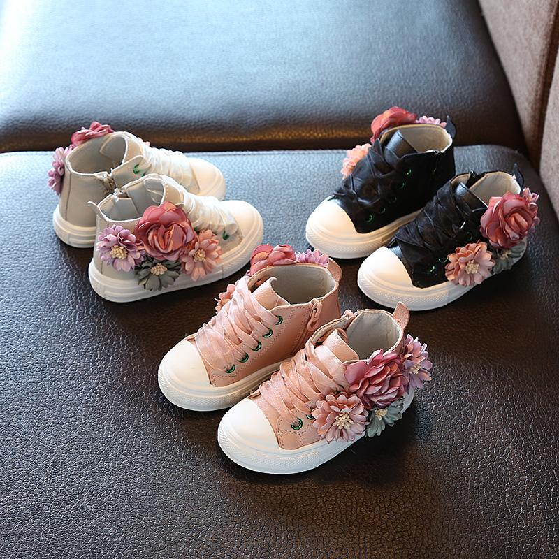 Floral Sneakers For Kids