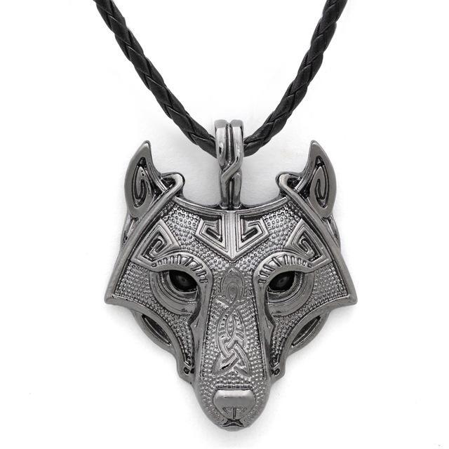Wolf Head Necklace - BUY 2 GET 3rd FOR 50% OFF Platinum Plated / 60cm ClickClickShip.com