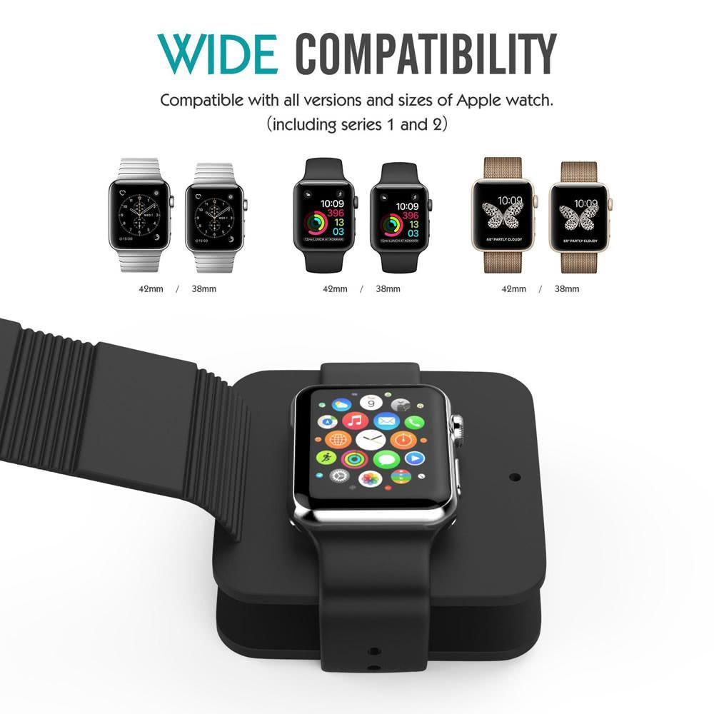 Portable Charging Wallet for all Apple Watches 38mm/42 mm ClickClickShip.com