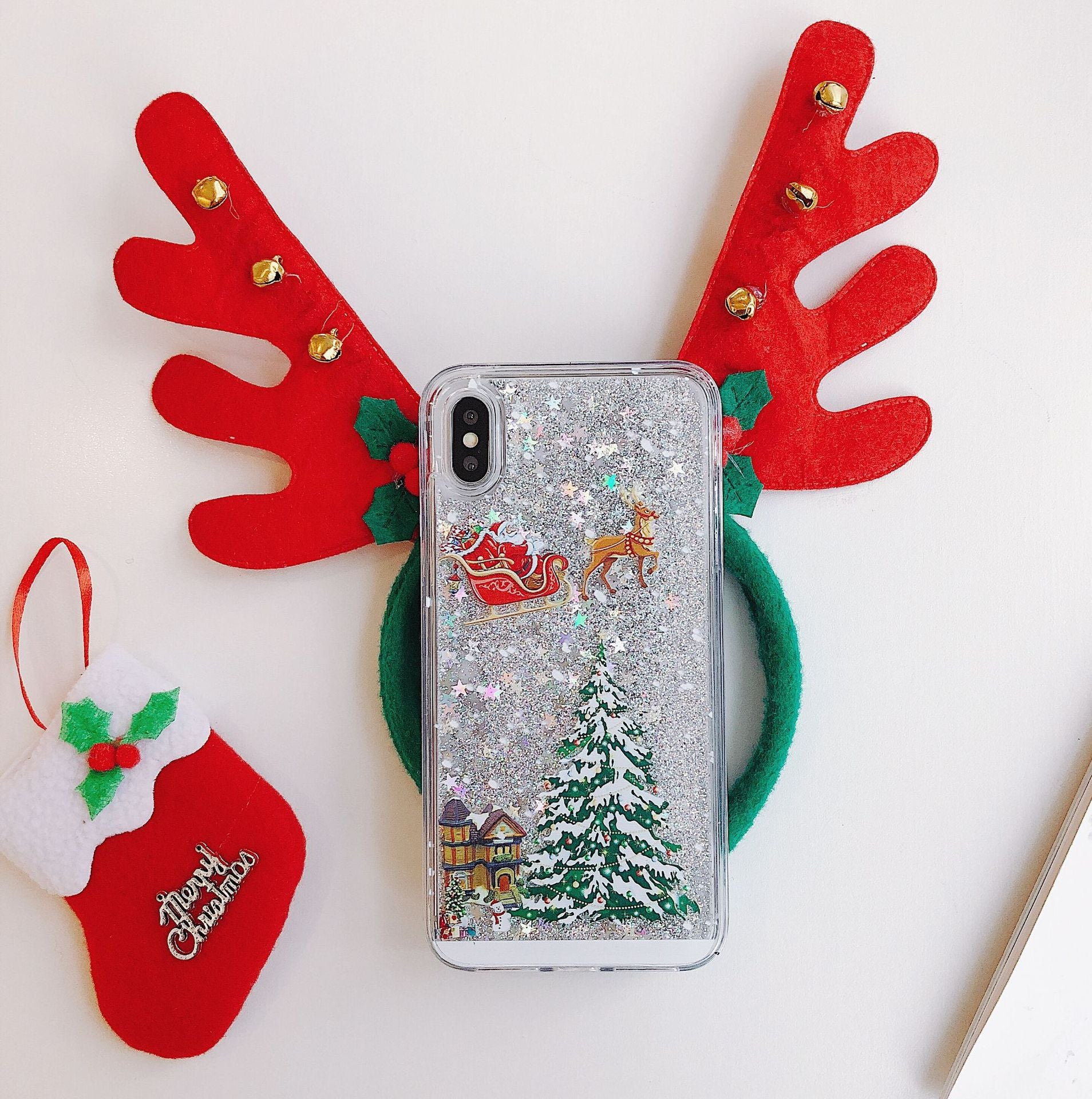 XMAS Powder Glitter iPhone Case