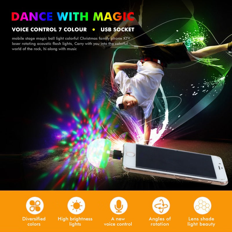 USB Disco Light For iOS/Android/Type-C