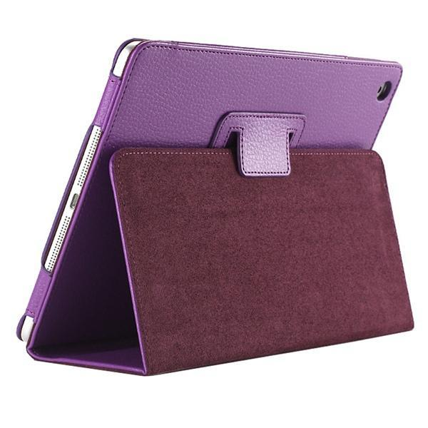"iPad 2/ 3/ 4/ PU Leather Cover Smart Stand Holder Folio Case for 9.7""inch Screen Purple ClickClickShip.com"