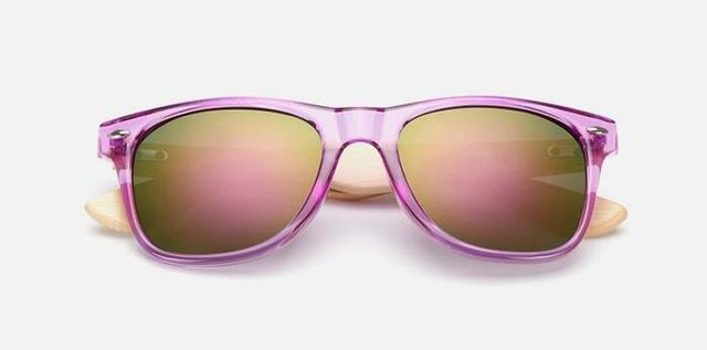 Unisex Wooden Sunglasses Purple mercury ClickClickShip.com